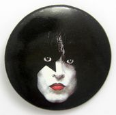 Kiss - 'Paul Make-Up' Large Button Badge